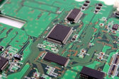 Elements of computer motherboard — Stock Photo