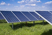 Solar panel and renewable energy — Stock Photo
