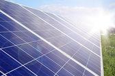 Solar panel power production green economy — Stock Photo