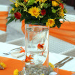 Wedding table arrangement — Stock Photo #28970763
