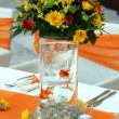 Stock Photo: Wedding table arrangement