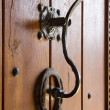 Vintage metal doorbell in Old Bulgaria building entrance — Stock Photo