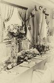 Retro düğün masa — Stok fotoğraf