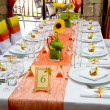 Stock Photo: Decorated wedding table