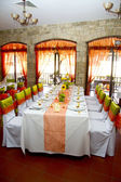 Wedding place on the restaurant — Stock Photo