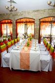 ślub miejsce na restaurację — Zdjęcie stockowe