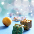 Stock Photo: Celebration theme with christmas gifts