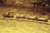 Vintage toy, train — Stock Photo