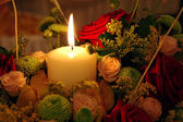 Candle and flowers — Foto de Stock