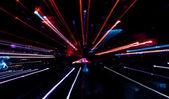Abstracte kleurrijke achtergrond met lichten in beweging — Stockfoto
