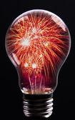Creative Explosion as a fireworks display celebration represente — Stock Photo