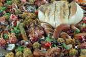 Catering mat på en fest — Stockfoto