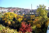 Vista dalla vecchia città di veliko tarnovo in bulgaria — Foto Stock