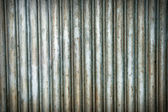 A rusty corrugated iron metal texture. — Stock Photo