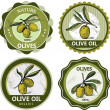 Royalty-Free Stock Vector Image: Olives labels collection
