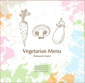Vegetarian menu — Stockvektor
