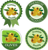 Olives label — Stock Vector