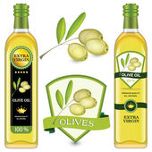 Labels olive oil — Stock Vector