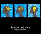 Team Brainstorming, idea, concept. — Stock Vector