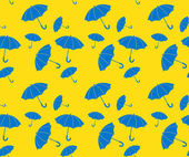Vector seamless pattern umbrellas — Stock Vector