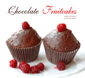 Chocolate fruitcakes — Stock Photo