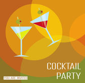 Card cocktail party. — Stock Vector