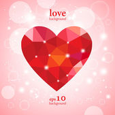Greeting valentine card — Stock Vector