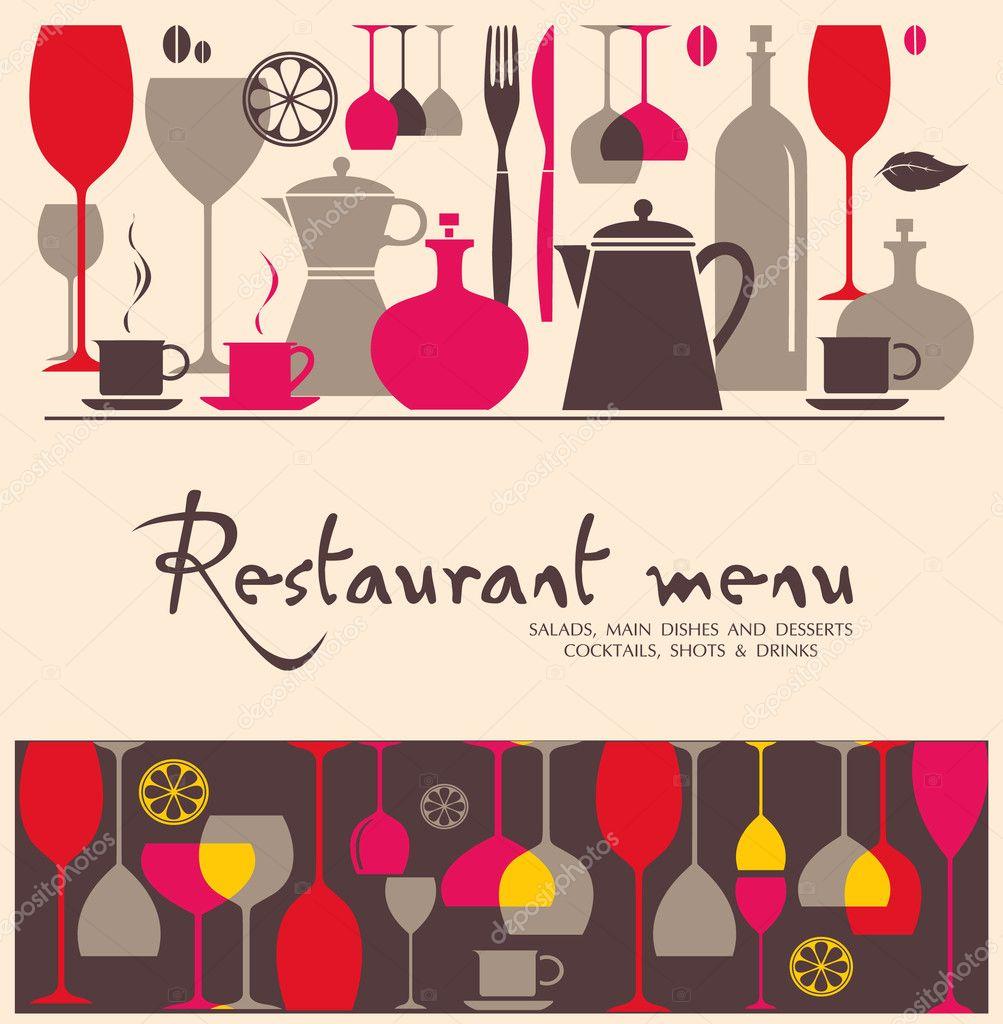Vector restaurant menu design — stock lossik