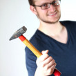 Man with hammer — Stock Photo