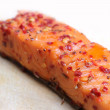 Stock Photo: Noble salmon fillet with herbs