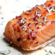 Noble salmon filet with herbs — Stock Photo #13945223