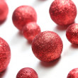 Stock Photo: Red glitter spheres background