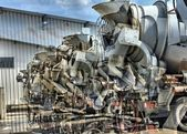 Concret mixer trucks chaos as a hdr picture — Stock Photo