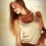 Tender Young Woman Soft Colors Portrait — Stock Photo #12742431