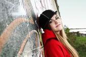 Miejski nastolatek młode kobiety romantyczne — Zdjęcie stockowe