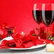Foto Stock: Romantic Candlelight Dinner for Two Lovers