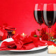 Romantic Candlelight Dinner for Two Lovers — Stock Photo