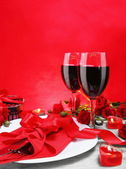 Romantic Candlelight Dinner for Two Vertical — Stock Photo