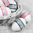 Decorated Easter Eggs Close - Stock Photo