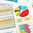 Stock Photo: Business Chart and Graphs