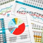 Постер, плакат: Business Sales Report with Statistics