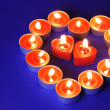 Heart Made of Candles — Stock Photo #4717023
