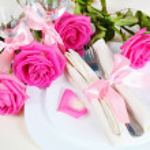 Arrangement for Romantic Dinner Close — Stock Photo #9903349