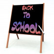 An image of a advert of a back to school sign written — Stock Photo