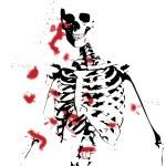 Bloody Skeleton — Stock Photo #12197885