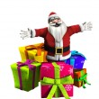 Stock Photo: Father Christmas With Presents