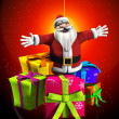 Father Christmas With Presents — Stock Photo