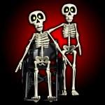 skelet helpen een handicap skelet — Stockfoto
