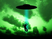 UFO Abduction — Stock Photo