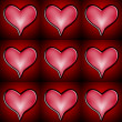 Red And Pink Heart Pattern - Stock Photo